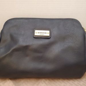 Bruno soft black leather shoulder bag